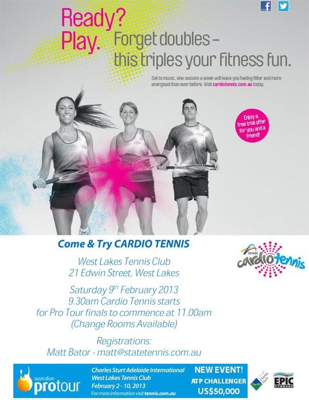 Cardio Tennis Flyer