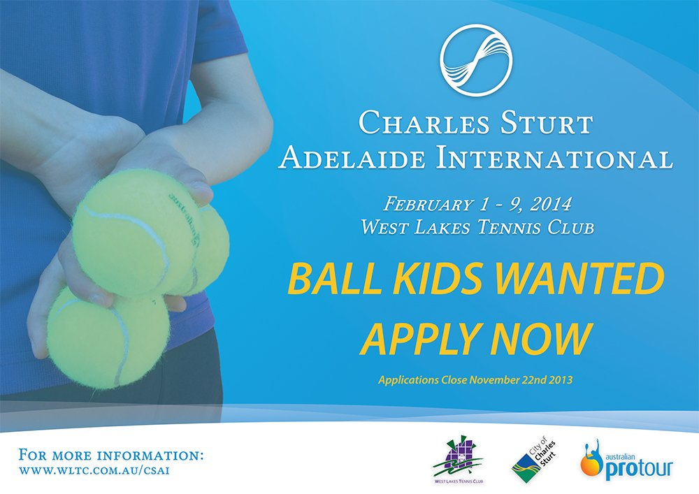 Ball Kid Applications Now Open